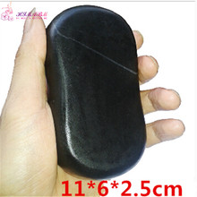 11*6*2.5cm Natrual hot spa large black  basalt stone massage essential oil volcanic energy
