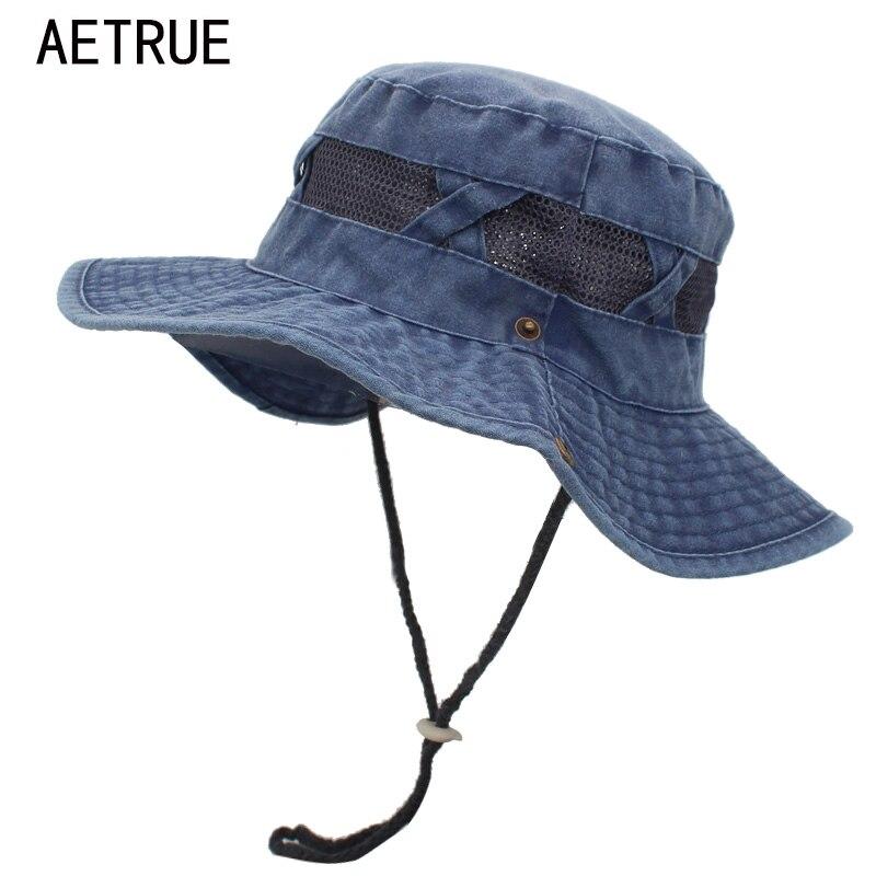 US Men Solid Wide Brim Packable Sun Hat Bucket Fishing Hiking Outdoor Beach Hat