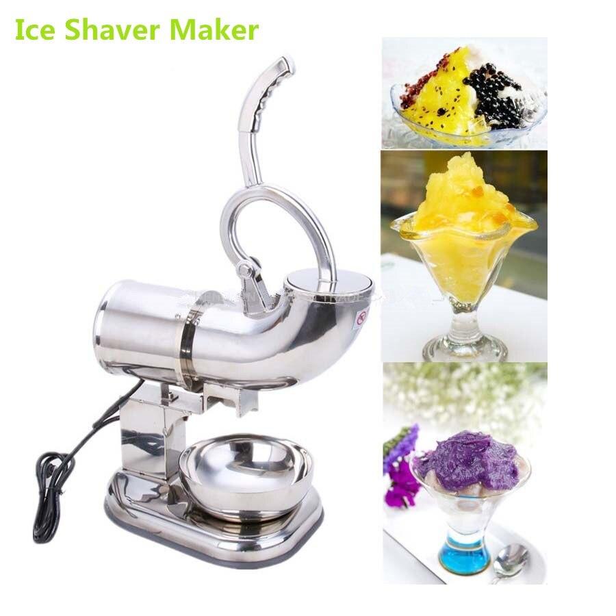 Высокое качество 180 кг/ч двойным лезвием 110 В 220 В Электрический Нержавеющаясталь снежный конус машины льда бритвы чайник дробилки льда чай