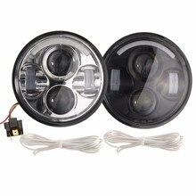 5.75 cal Motocykl Projektor Żarówka DRL LED Światła HI/LO Beam Reflektorów Dla Harley