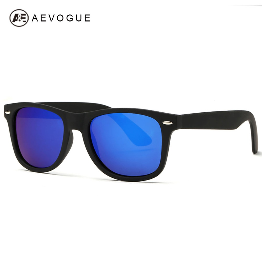 AEVOGUE Polarizadas de Los Hombres gafas de Sol Unisex Estilo Bisagras De Metal Lente Polaroid Original de Calidad Superior Gafas de Sol Masculino AE0300