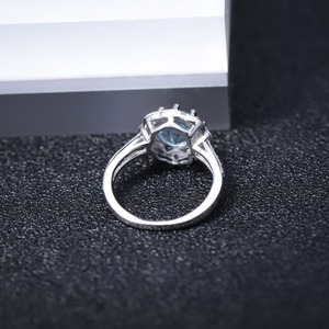 Image 4 - Gems Ballet New Arrivals Natural Sky Blue Topaz Rings Genuine 925 sterling silver Wedding Engagement jewelry For Women