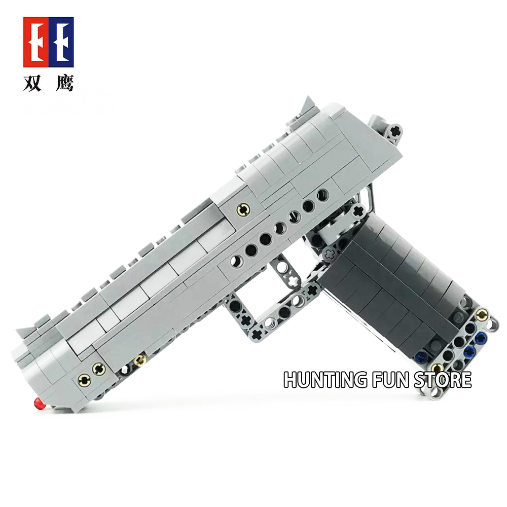 Fit Legoness Technic Series Gun Handgun Pistol Can Fire Bullets Set Desert Eagle 307pcs Building Blocks