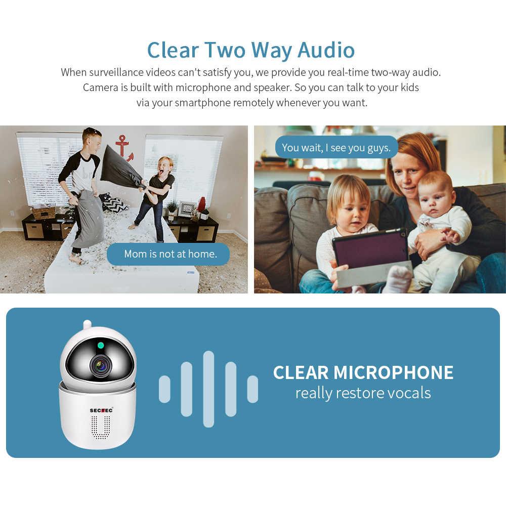 SECTEC سحابة IP كاميرا السيارات تتبع 1080 P Wifi كاميرا أمنة للبيت اللاسلكية واي فاي شبكة كاميرا تلفزيونات الدوائر المغلقة مراقبة الطفل