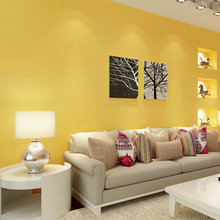 PAYSOTA Modern Simple Solid Color Yellow Wallpaper Bedroom Living Room Children Wall Paper Roll