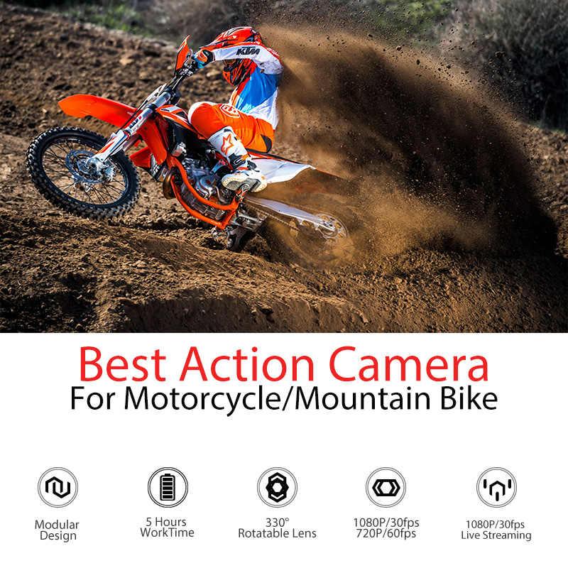 Drift Hantu X MC Action Camera Ambarella 1080P Sepeda Motor Helm Olahraga Mini Cam Lengan 12MP CMOS Rotary Lensa akses Internet Nirkabel