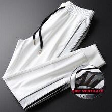 Mignlu Pantalones deportivos para hombre, diseño con ventilación lateral, informales, de talla grande 4xl, de alta calidad