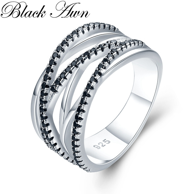 Vintage 5.1g 925 Sterling Silver Fine Jewelry Trendy Engagement Bague Women's Wedding Ring G041