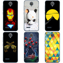 For Alcatel One Touch Idol 2 Mini OT 6016X Case Hard Plastic Back Cover Cases Painting Abstract Hard Cases Patterned Shell Skin(China)