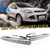 Turn Off And Dimming Style Relay LED Car DRL Daytime Running Lights For Ford Kuga 2012