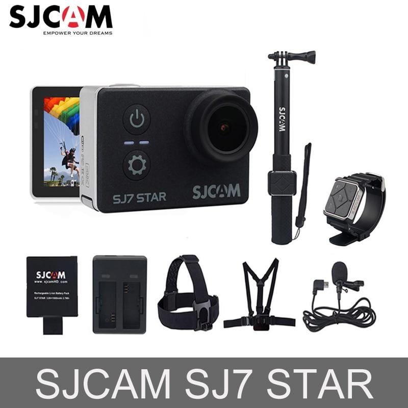 100% D'origine SJCAM SJ7 2 ''STAR Wifi 4 k Tactile Écran Ambarella A12S75 30 m Étanche À Distance Action Sports caméra De Voiture Mini DVR