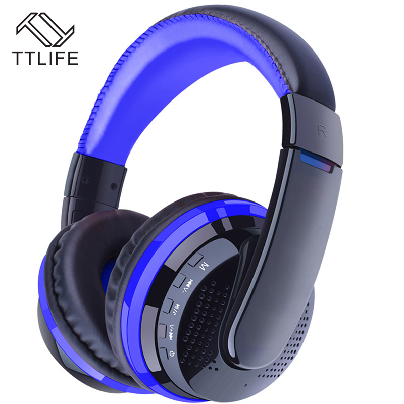 TTLIFE High qualiy Wireless Bluetooth Gaming headphone CSR4.1 Stereo HIFI Game headset support Atp-x memory card reads With Mic