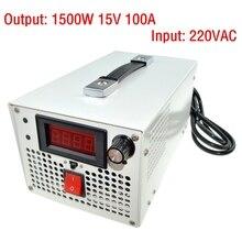 LED Conductor de Entrada De CA 220 V al adaptador de la CC 1500 W 0 ~ 15 V 100A ajustable salida de Conmutación de alimentación transformador para la Tira LLEVADA luz