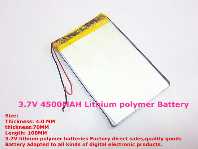 best battery brand 1PCS  3.7V 4500MAH 4070100 tablet battery with protection board For MID 7inch Tablet PC