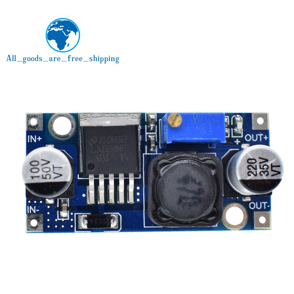 TZT 100pcs LM2596 LM2596S DC DC adjustable step down power Supply module NEW High Quality