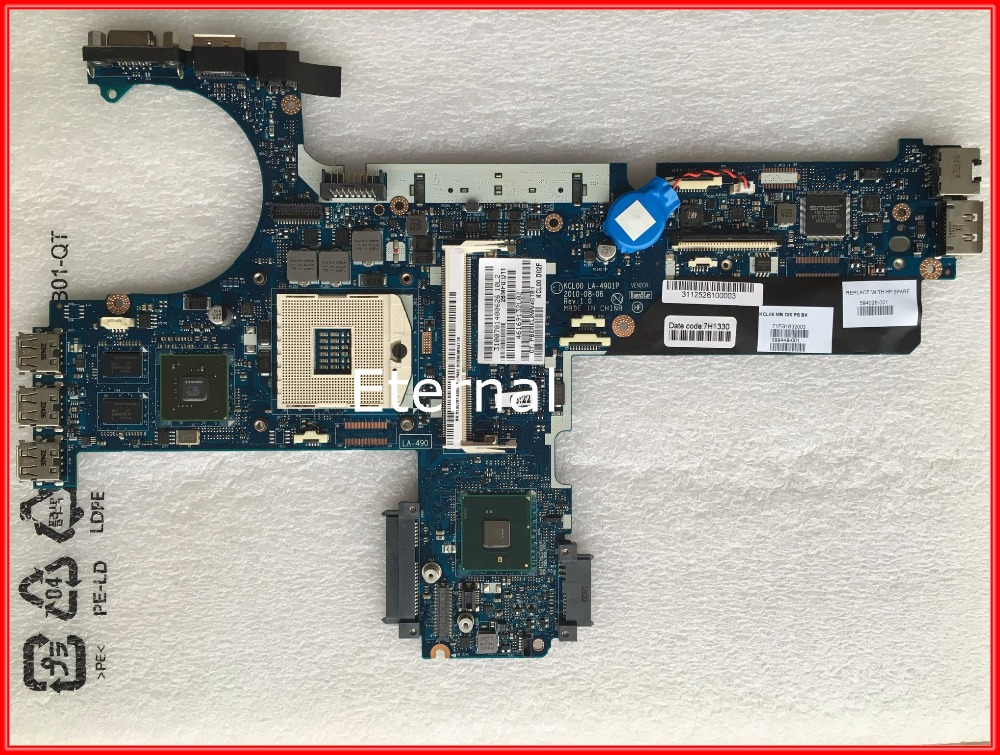 FOR HP EliteBook 8440P laptop Motherboard 594026-001 KCL00 LA-4901P Nvidia Graphics System Board 100% Tested
