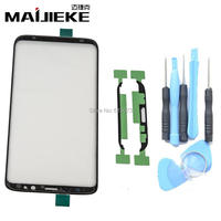 MAIJIEKE Black Outer Screen Glass Lens For Samsung Galaxy S8 G950 Front Glass Lens Screen Replacement