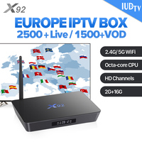 IUDTV Code X92 Smart Android 7.1 TV Box 12 Months IPTV Subscription IPTV Europe Sweden Italy UK Germany Greek Channels IPTV Box
