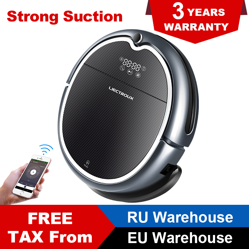 LECTROUX Robot Vacuum Cleaner Q8000 WiFi Map Navigation Wet and Dry Mop Suction 3KPa Virtual Blocker