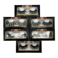 25mm false eyelashes 5D mink handmade 6D stereoscopic messy thick eyelash extension