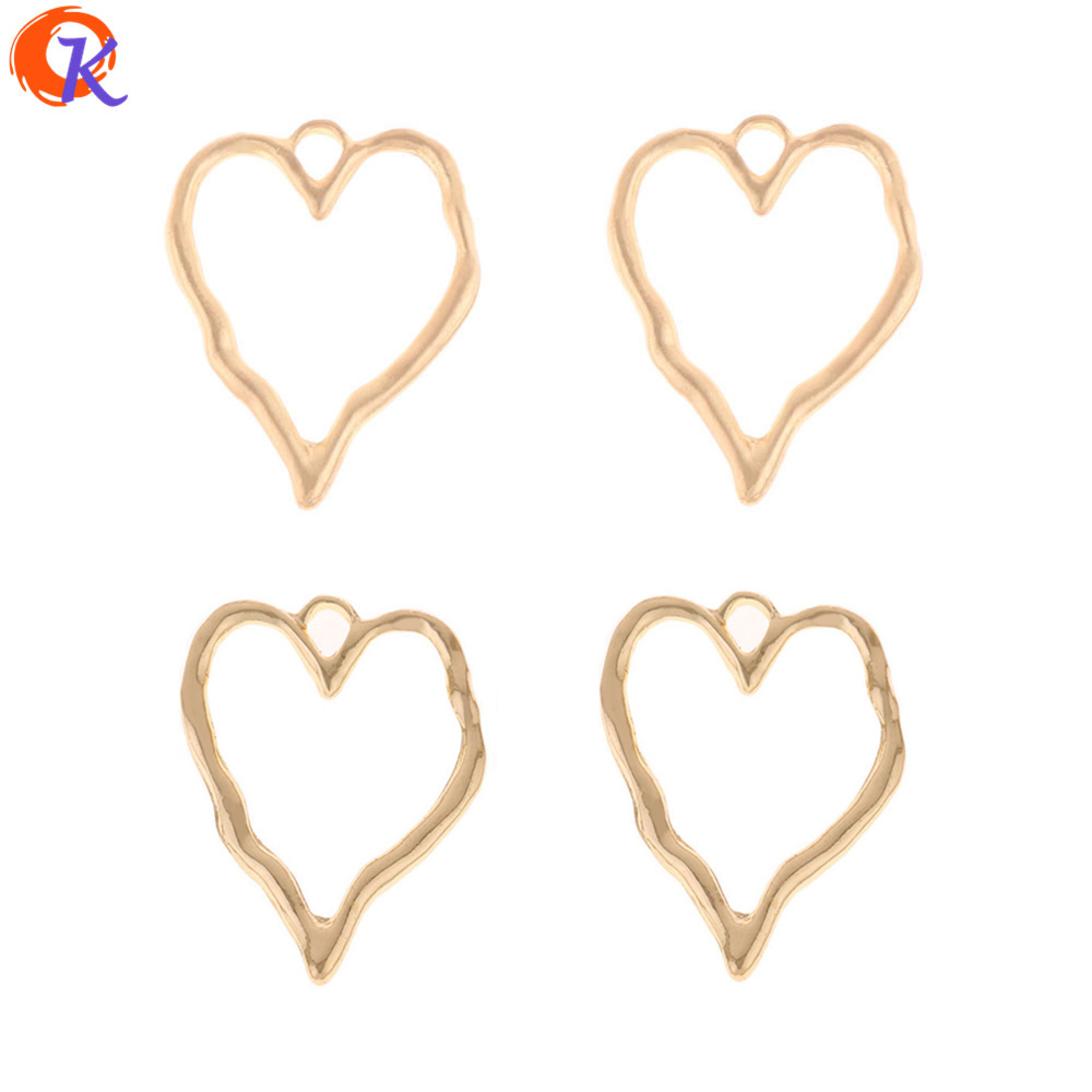 Cordial Design 50Pcs 28*37MM Jewelry Accessories/Earring Connectors/Hollow Heart Shape/Zinc Alloy/Hand Made/Earring Findings