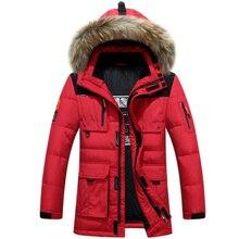 90% de pato blanco abajo hombres chaqueta gruesa capa caliente hombre abajo parka hombres chaqueta impermeable a prueba de viento suave outwear parkas