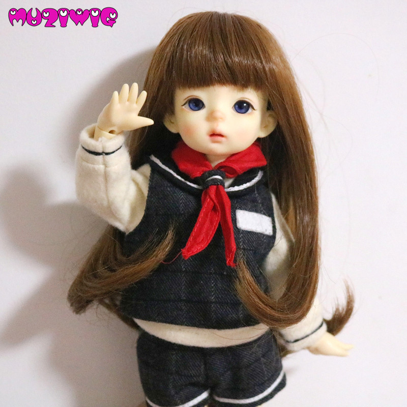 Delicious Doll Wigs High Temperature Wire Dark Brown Color Long Straight Hair With Bangs Available For 1/6 1/4 1/3 Bjd Sd Doll Accessories 50% OFF Toys & Hobbies Dolls & Stuffed Toys