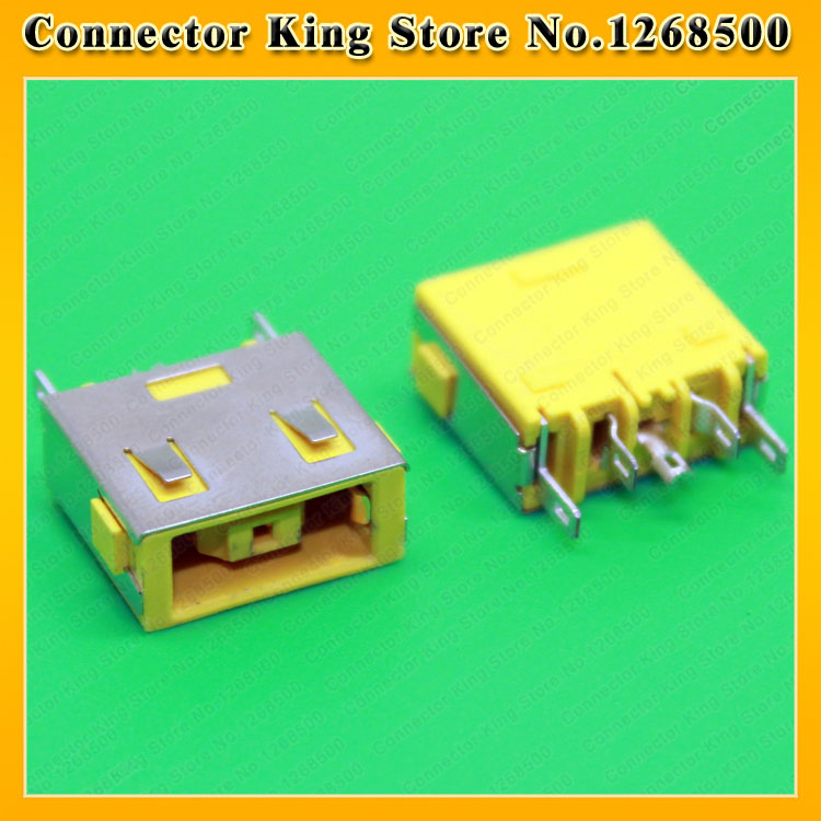Yellow Laptop DC Power Jack For Lenovo G400 G405S G490 G500 G505 Z501Ultrabook DC Jack Charging socket Square Port,DC-218 yuxi free shipping 10pcs lot laptop motherboard dc power jack connector for lenovo g400 g490 g500 g505 z501
