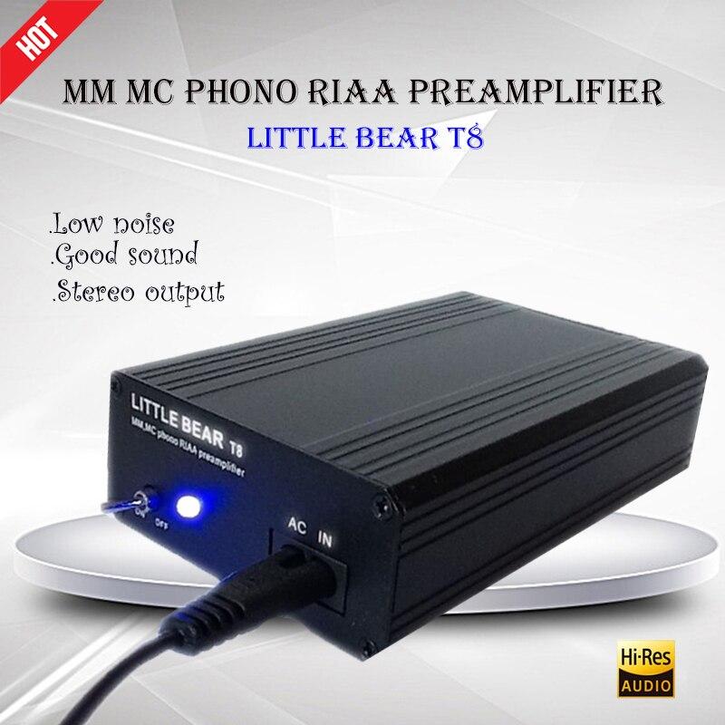 Petit ours T8 préampli platine vinyle MM MC Phono RIAA préamplificateur Hifi stéréo amplificador Portable Phono puissance amplificateur numérique