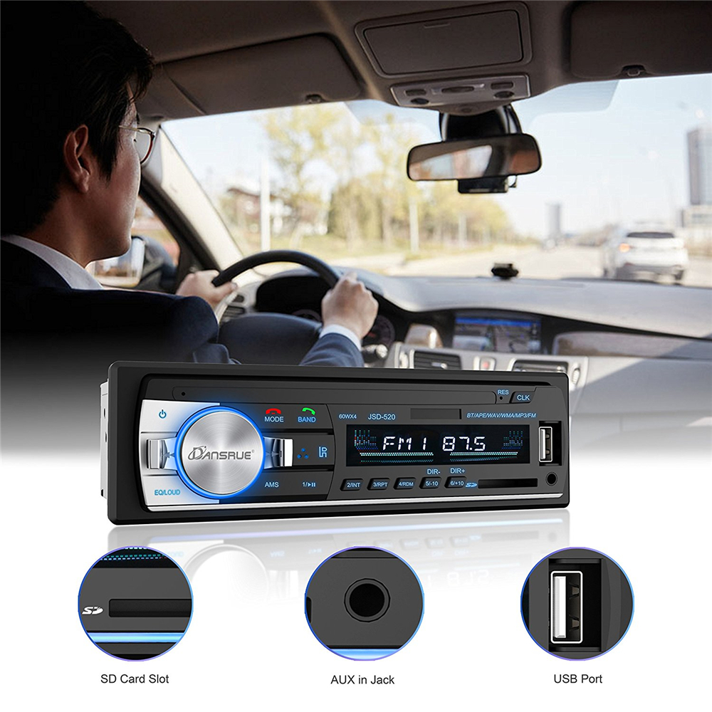 Image 5 - 1PC Car Stereo Bluetooth Autoradio 1 din 60Wx4 Support Hands free calls Car Radio Receiver MP3 Player/USB/SD Card/AUX/FM Radio-in Car Radios from Automobiles & Motorcycles