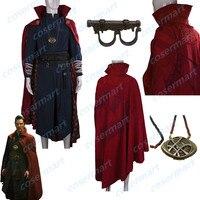 2016 фильм Marvel Доктор Стрэндж костюм косплей Steve полный комплект костюм халат костюм на Хэллоуин