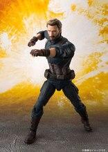 Figura del Capitán América, 100% Original BANDAI, «Avengers: Infinity War»