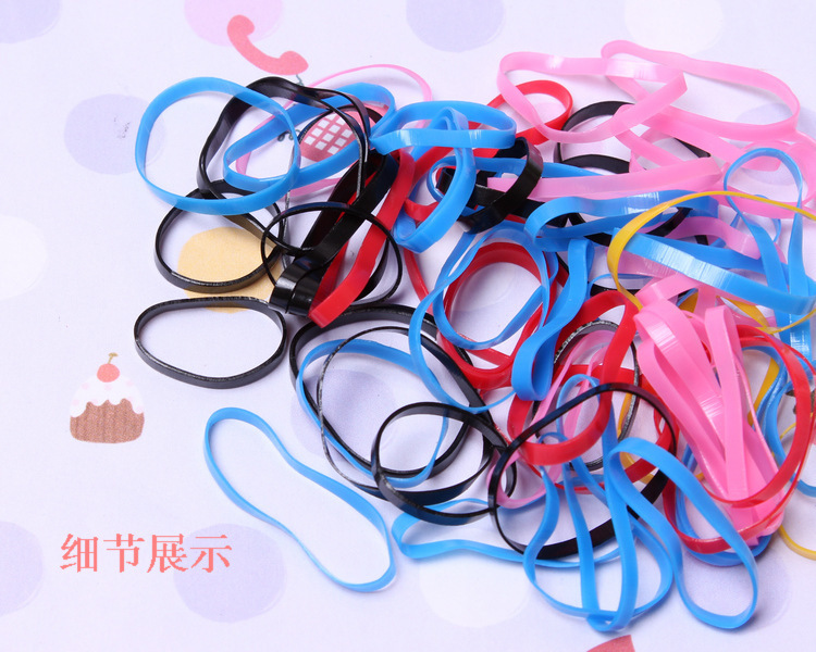 Black & Colorful Braids Ponytail Holder Cylinder Package Rubber Bands Silicone Hair Elastic Bands Gum Hairwear for Kids Women