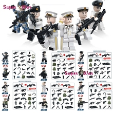 60pcs world war ww2 Military Soldier Weapon Guns Collection building blocks action bricks boy toys for