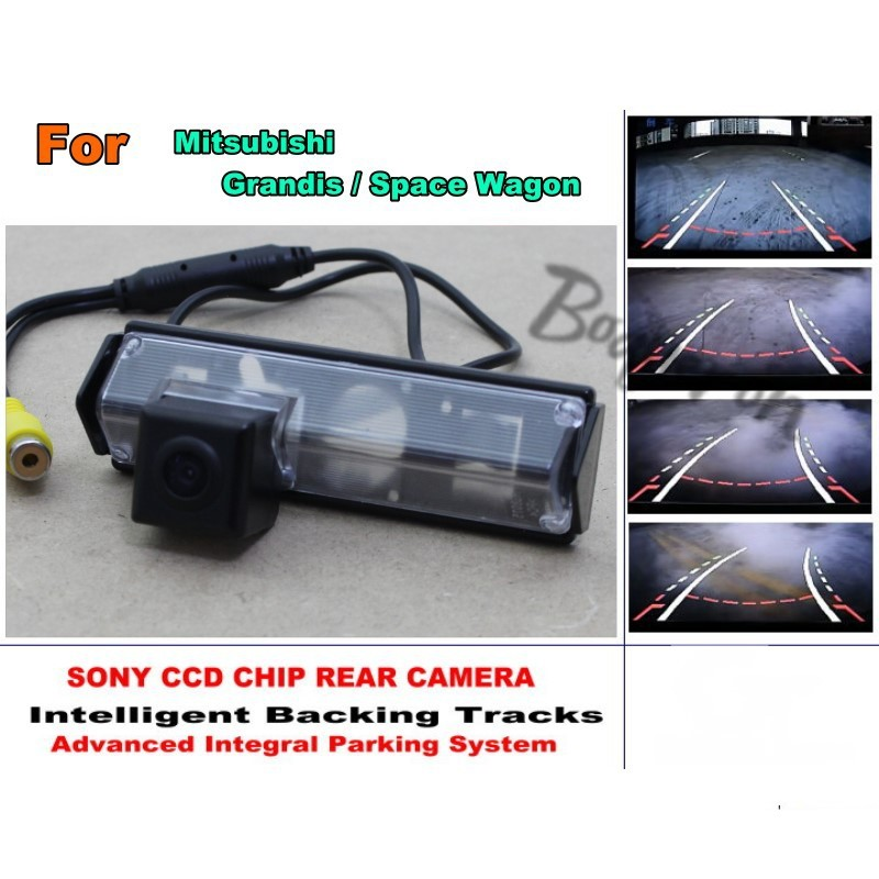 For Mitsubishi Grandis / Space Wagon 2003-2011 Smart Tracks Chip Camera HD CCD Intelligent Dynamic Parking Car Rear View Camera for renault duster 2010 2014 smart tracks chip camera hd ccd intelligent dynamic parking car rear view camera