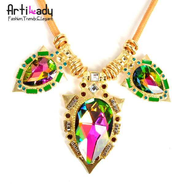 Arilady 2013 fashion big crystal necklace choker necklace fashion jewelry new desgin