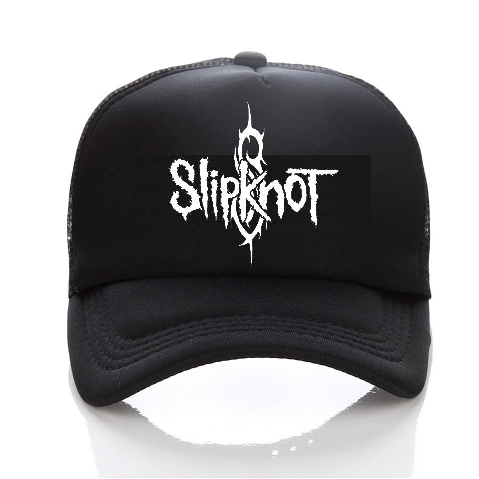 Summer Style Fashion Men   cap   Black Snapback   cap   Men's hat Cotton Rock Band Slipknot   Baseball     Cap