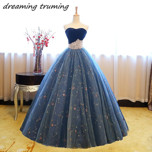 vestidos de 15 anos Quinceanera Dresses 2018 Pearls Tulle Long Ball Gowns  Elegant Birthday Party Chic Sweet 16 Dresses 4e47b465fa70