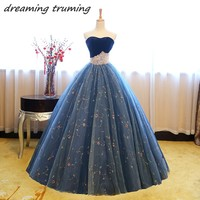 vestidos de 15 anos Quinceanera Dresses 2018 Pearls Tulle Long Ball Gowns Elegant Birthday Party Chic Sweet 16 Dresses