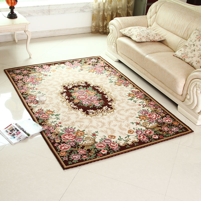 Carpet In A Bathroom: Luxury Jacquard Parlor Carpet Various Sizes Rugs Large