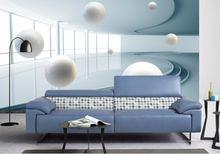 Нетканые обои абстрактная архитектура шар абстрактные для стен