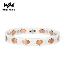 Браслет welmag для снятия артрита женщин белый керамический