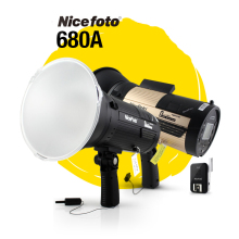 NiceFoto N-Flash 680A 600W 2.4G Wireless GN68 HSS 1/8000S Studio Flash High Speed Speedlite  NFlash 680A High Power exide excell eb740 12v 74ah 680a обр