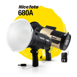 NiceFoto N-Flash 680A 600W 2.4G Wireless GN68 HSS 1/8000S Studio Flash High Speed Speedlite  NFlash 680A High Power