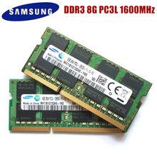 Samsung laptop 8g, 8g pc3l 12800s ddr3 8gb 1600 mhz memória para laptop 8g pc3l 12800s 1600 módulo sodimm do módulo do caderno mhz ram