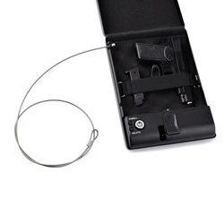 Cassetta di sicurezza scatola di scatole di munizioni di casseforti cassaforte cassaforte pistola keybox portatile biometrico di impronte digitali di sicurezza di sicurezza di soldi auto cashbox blocco