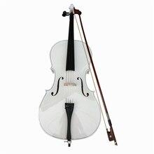 White Professional Performance 4/4 3/4 1/2 1/8 Handmade Light matte Basswood Beginners Practice Children Playing Cello