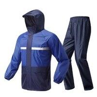 Motorcycle Men Raincoat Waterproof Bicycle Rain Jacket Adults Reflective Hooded Work Travel Raincoat Coat Women Rain Jacket