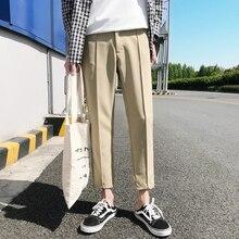 Японские мужские хлопковые повседневные шаровары модные трендовые брюки хип-хоп стиль свободные большие размеры черные/хаки брюки M-3XL