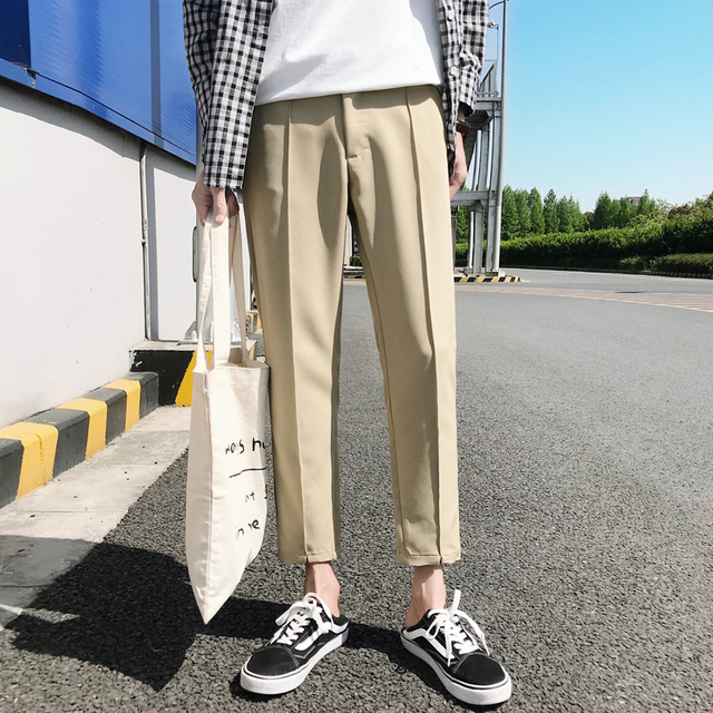 2018 Japanese Men's Cotton Casual Harem Pants Fashion Trend Trousers Hip Hop Style Loose Large Size Black/khaki Pants M-3XL 1